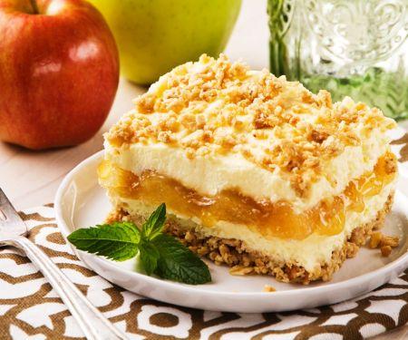Apfel-Käsekuchen mit Knuspermüsli