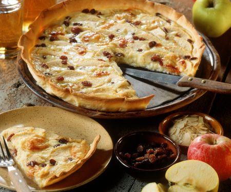 Apfel-Rosinen-Tarte