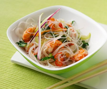 Asia-Nudeln mit Shrimps