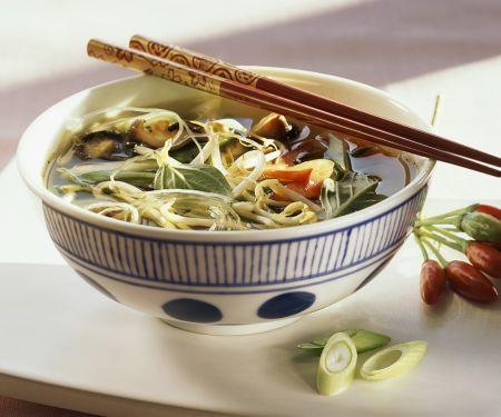 Asiatische Gemüse-Nudelsuppe