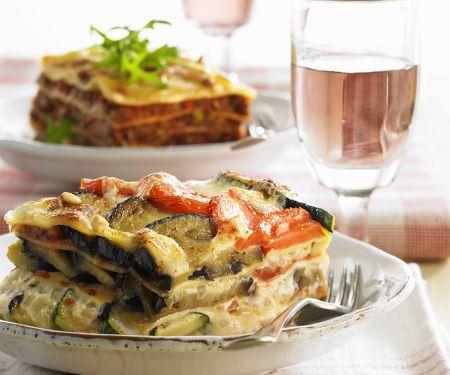 Auberginen-Zucchini-Lasagne