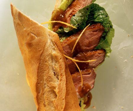 Baguette mit Entenbrust