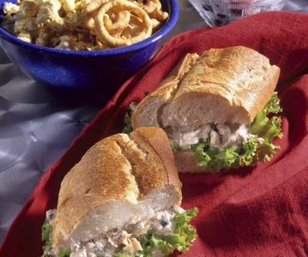 Baguette-Sandwich mit Thunfischcreme