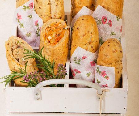 Baguettes gefüllt für Unterwegs