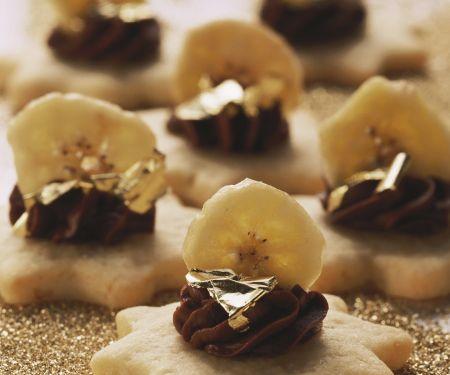 Bananen-Schoko-Sterne