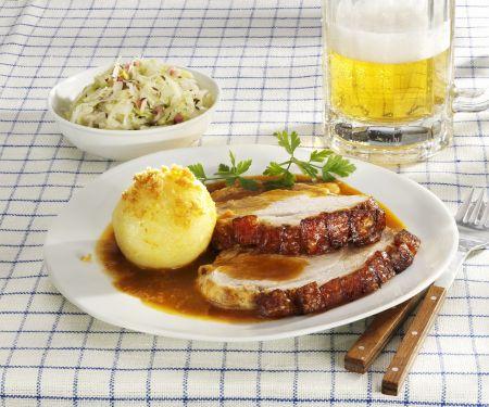 Bayerischer Schweinebraten mit Kartoffelknödel