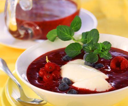 Beerenpüree mit Joghurt