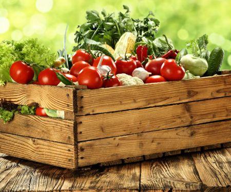 Bio-Lebensmittel, Gemüse in einer Kiste