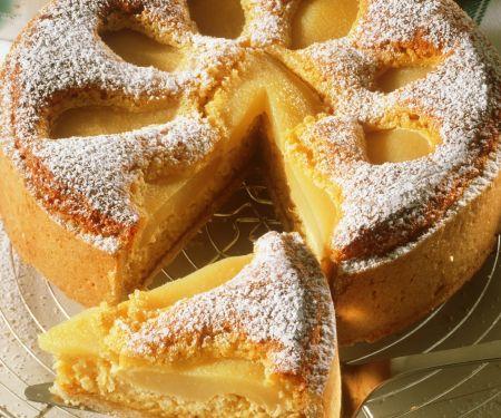 Birnenkuchen mit Mandeln