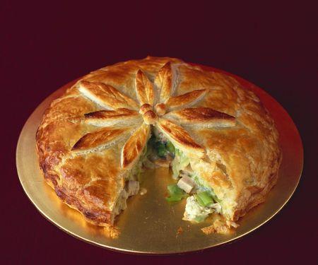 Blätterteig-Puten-Pie