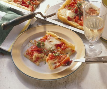 Blätterteig-Tomatenpizza