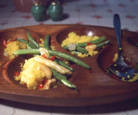 Bohnen-Safran-Couscous