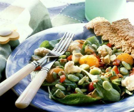 Bohnensalat mit Gemüse