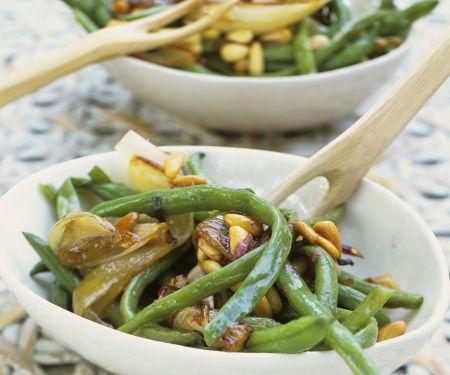 Brechbohnensalat mit Schalotten