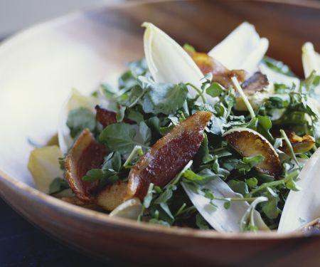 Brunnenkresse-Salat mit Bacon