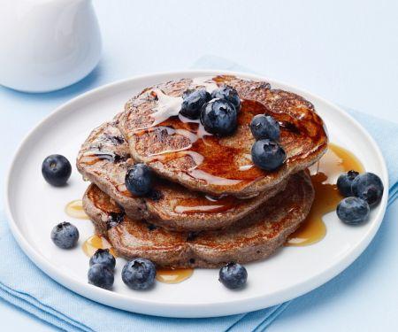 Buchweizen-Pancakes mit Blaubeeren