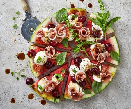 Bunte Melonen-Pizza