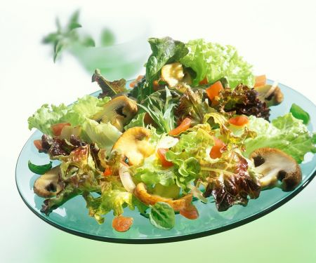 Bunter Salat mit Pilzen
