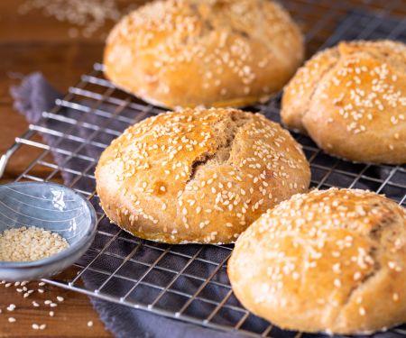 Burger-Buns mit Sauerteig