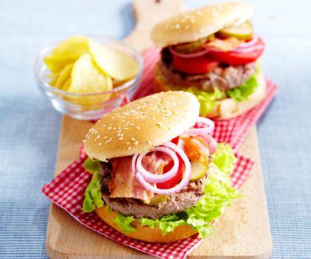 Burger mit Speck