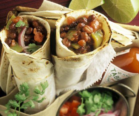 Burritos mit Bohnenfüllung