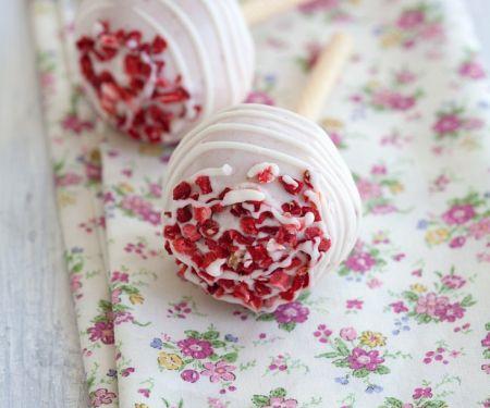 Cake Pops mit weißer Schokolade