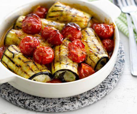 Canelloni aus Auberginen und Tofu