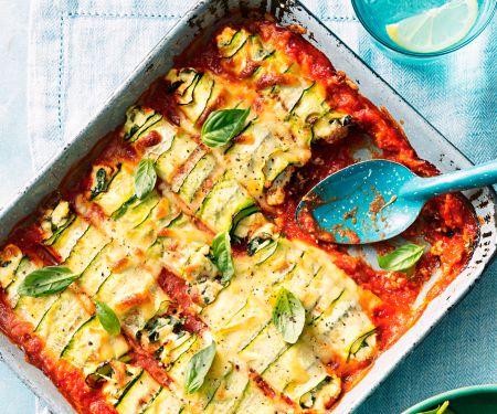 Cannelloni mit Ricotta, Spinat und Zucchini