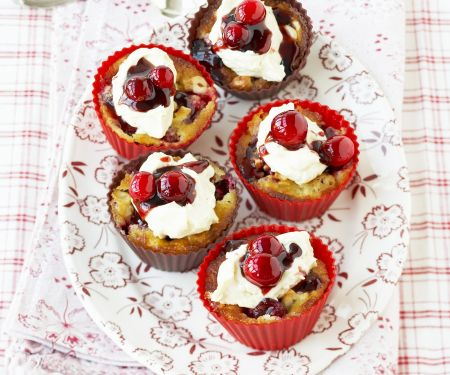 Cashew-Cupcakes mit Cranberries