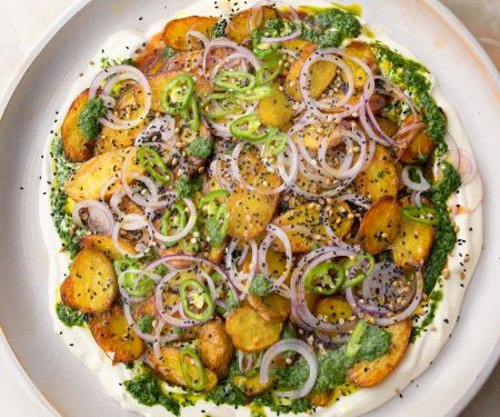 Chaat-masala-Kartoffeln