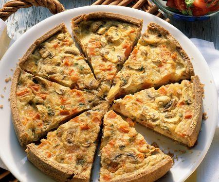 Champignon-Tomaten-Quiche
