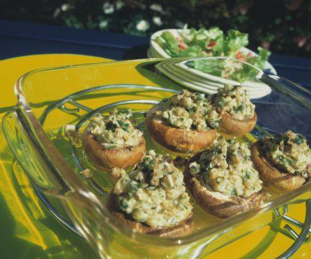 Champignons mit Kräuter-Füllung