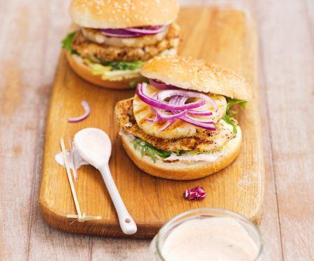Chicken Burger mit Ananas