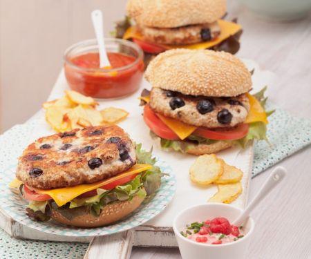 Chicken Burger mit Beeren