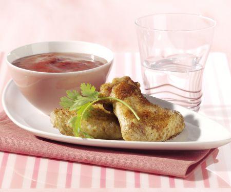 Chicken Wings mit scharfer Pflaumensauce