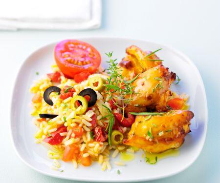 Chickenwings mit Olivenreis