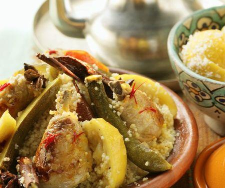 Couscous mit marokkanischem Hähnchen