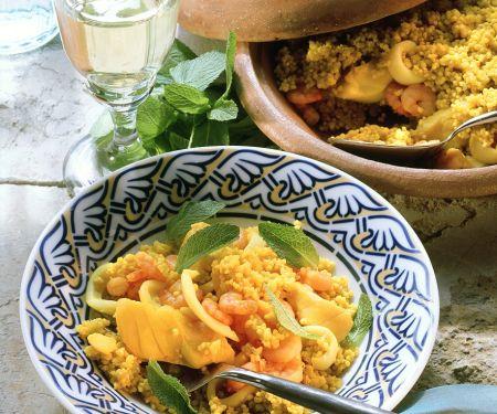 Couscous mit Meeresfrüchten
