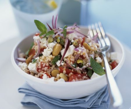 couscous feta salat mit erdn ssen rezept eat smarter. Black Bedroom Furniture Sets. Home Design Ideas