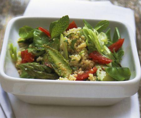 Couscous-Spargel-Salat mit Minze