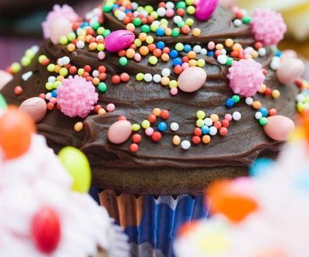 Cupcake mit Schokotopping
