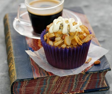 Cupcakes mit Florentiner-Masse