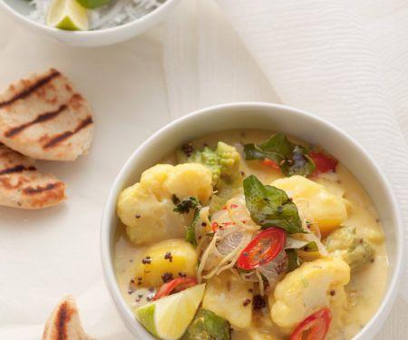 Curry mit Romanesco und Blumenkohl