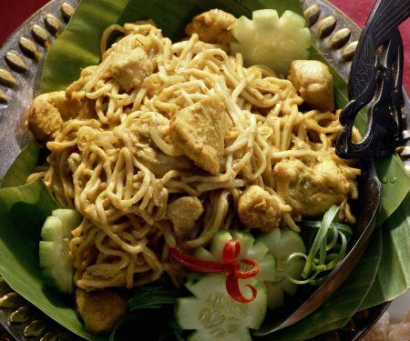 Currynudeln mit Hühnchen