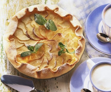 Einfacher Apfelkuchen aus Mürbeteig