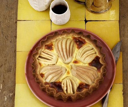 Einfacher Apfelkuchen mit Birnen und Quark