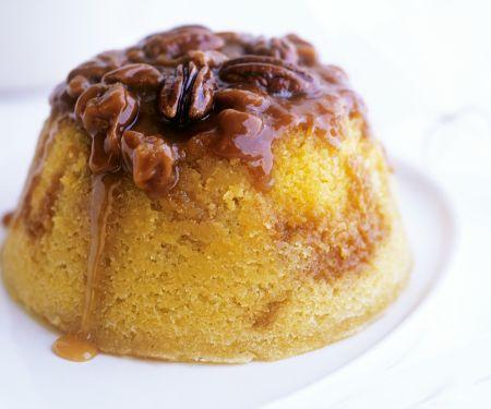 Englischer Pudding mit Walnüssen