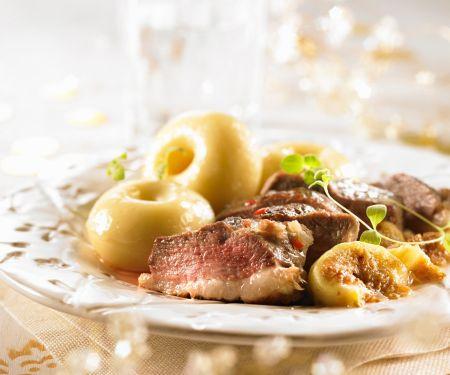 Entenbrust mit Kartoffelbällchen