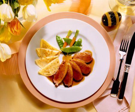Rezept: Entenbrust mit Orangensauce