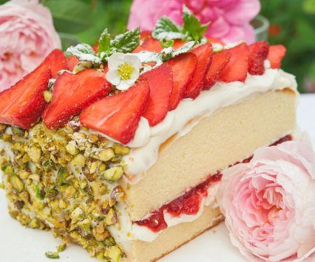 Erdbeer-Biskuit-Kuchen
